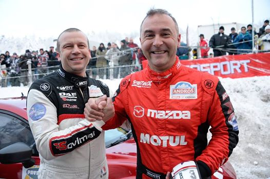 TROPHEE ANDROS 2015 finale a SUPER BESSE entre Olivier PANIS et Jean Philippe DAYRAUT