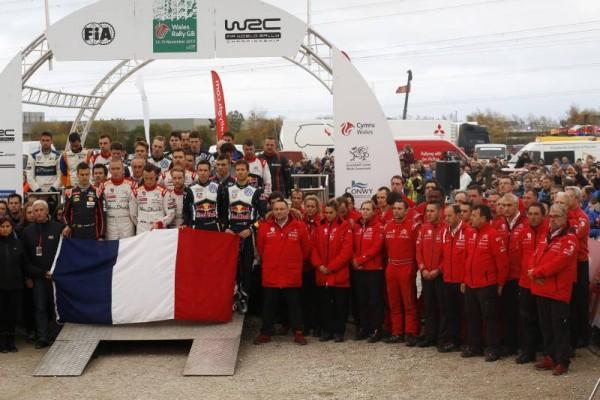 WRC-2015-WALES-GB-RALLY-HOMMAGE-DES-PILOTES-aux-attentats-terroristes-de-PARIS.