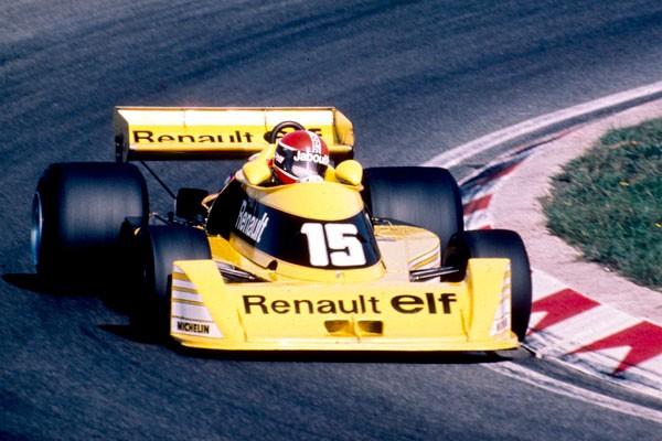 1ere RENAULT F1 en 1977 au volant Jean Pierre Jabouille Photo Bernard ASSET