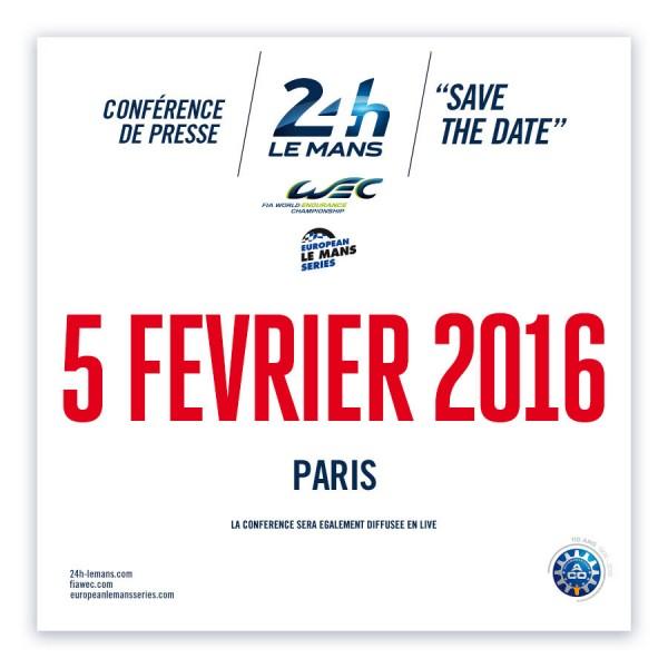 ACO Conférence de presse 2016  24 H du MANS -WEC et ELMS