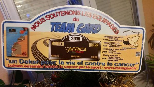 Team GARD - La plaque Rallye
