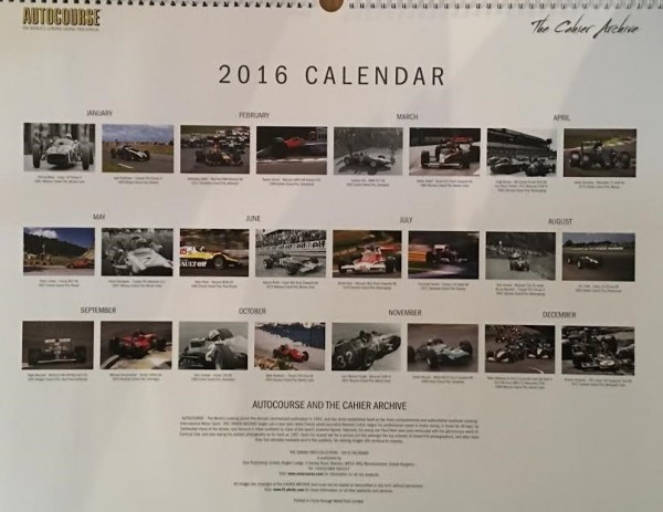 CALENDRIER AUTOCOURSE 2016 -