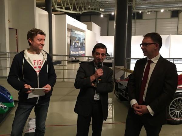 LE-MANS-PASSION-SHARE-14-Décembre-2015-Pierre-FILLON-Président-ACO-accueille-les-invités-en-compagnie-de-Samuel-TUAL-au-Musée-Auto-du-Mans-Photo-Autonewsinfo