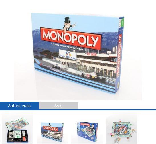 MONOPOLY Edition limitée Circuit PAUL RICARD -