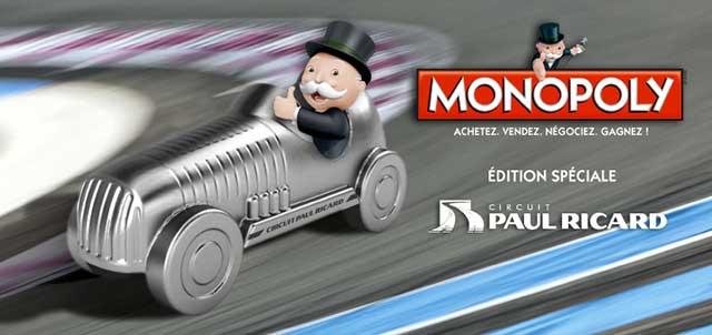 MONOPOLY Edition limitée Circuit PAUL RICARD