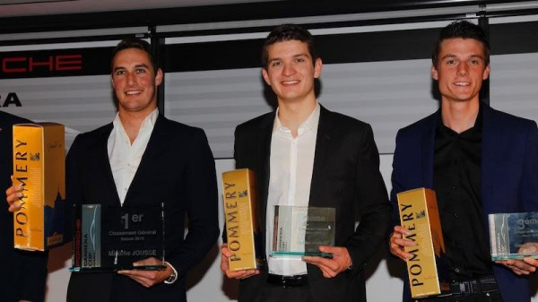 PORSCHE CUP 2015-Remise des Prix Les 3 premiers Maxime JOUSSE-Mathieu JAMINET et Steve PALETTE - Photo Thierry COULIBALY