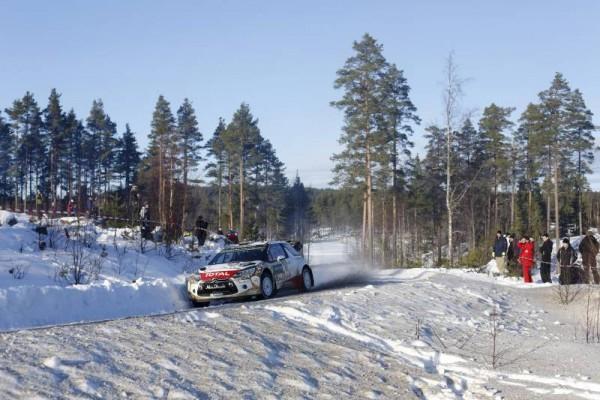 WRC-2015- Rallye de SUEDE- KRIS MEEKE au volant de l'une des DS3 officielles