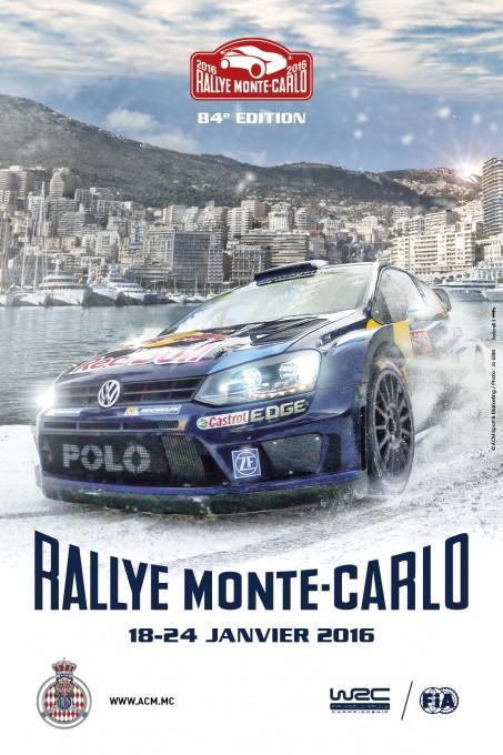 WRC 2016 RALLYE MONTE CARLO AFFICHE