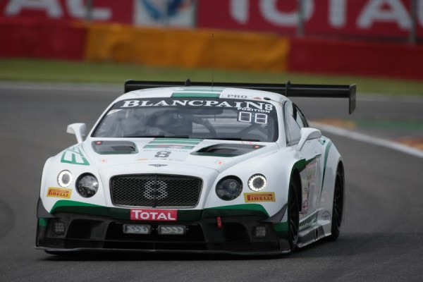 24 HEURES DE SPA 2015 - BENTLEY N°8 du TeamM SPORT - Photo Georges DECOSTER