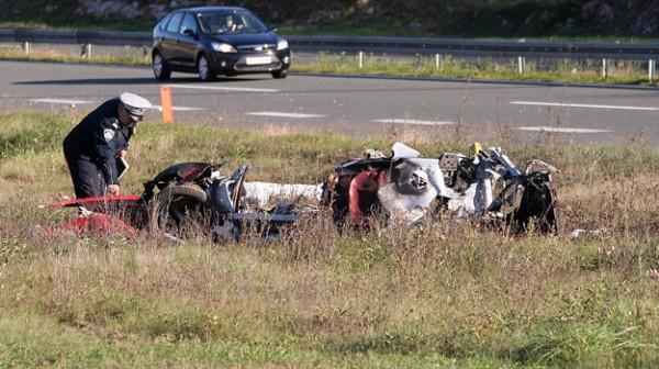 Ce qui reste aprés l'accident de la FERRARI de MARIN ČOLAK