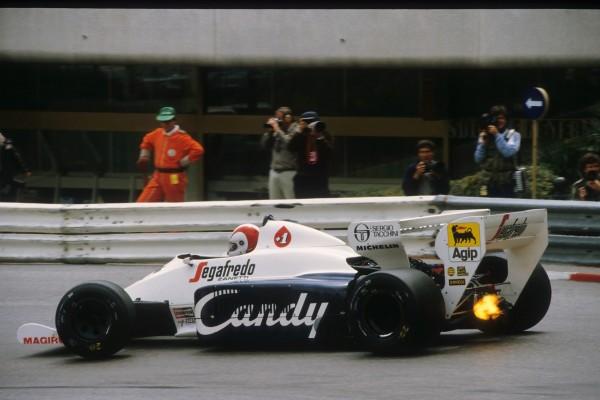 F1 1984 La TOLEMAN HART du pilote VENEZUELIEN JOHNNY CECOTTO.