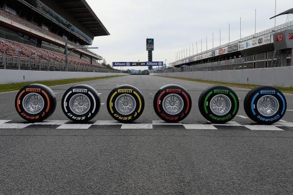 F1 2016 La gamme des pneumatiques PIRELLI