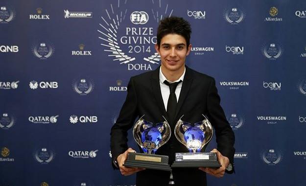 FIA 2014  Remise des Prix a DOHA au QATAR le vendredi 5 decembre - Esteban  OCON CHAMPION EUROPE de F3 avec le PREMA POWERTEAM