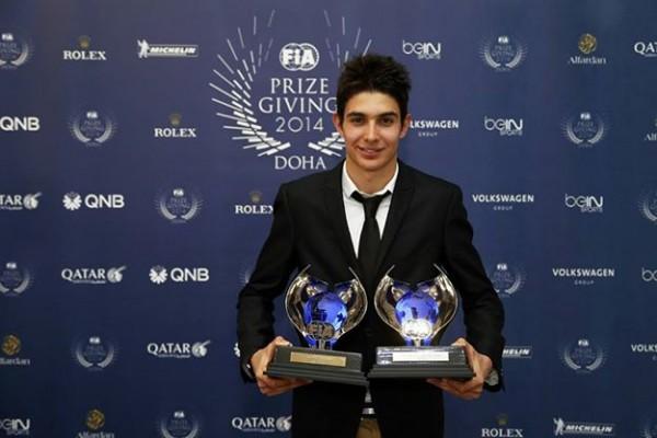FIA-2014-Remise-des-Prix-a-DOHA-au-QATAR-le-vendredi-5-decembre-Esteban-OCON-CHAMPION-EUROPE-de-F3-avec-le-PREMA-POWERTEAM