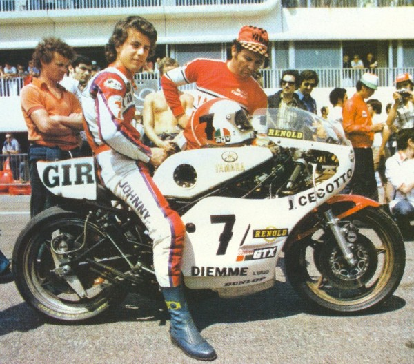 JOHNNY CECOTTO GP de FRANCE MOTO en 350cc au PAUL RICARD en 1975 photo Stan PEREC.