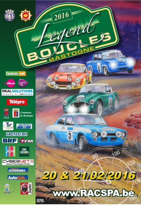 LEGENDS BOUCLES DE BASTOGNE 2016 - Affiche