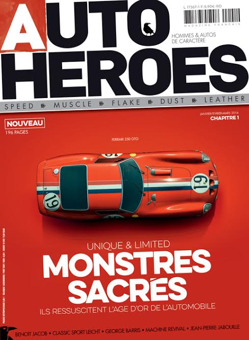 MAGAZINE AUTO HEROES Couverture N°1