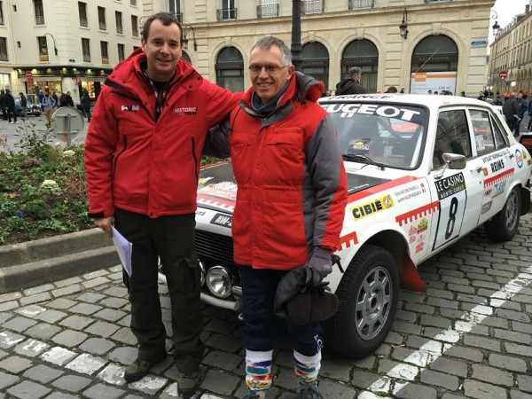 MONTE CARLO HISTORIQUE 2016 -Carlos TAVARES et Laurent VALLERY MASSON devant leur 504 PEUGEOT de 1972