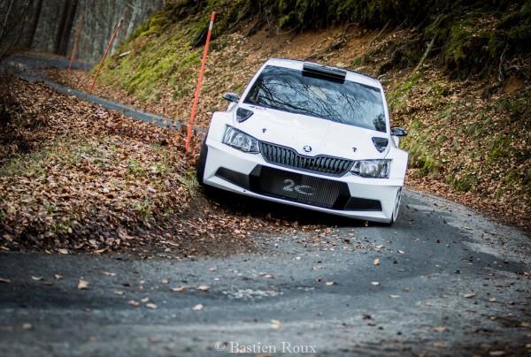 WRC 2016 MONTE CARLO 1ers essais de la SKODA FABIA R5 pour JULIEN MAURIN.