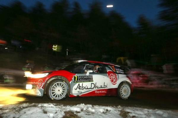 WRC 2016 MONTE CARLO - La DS3 CITROEN de KRIS MEEKE jeudi soir 21