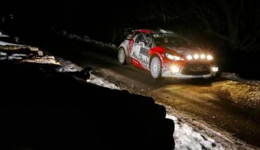 WRC-2016-MONTE-CARLO-La-DS3-CITROEN-de-KRIS-MEEKE-jeudi-soir-21-janvier