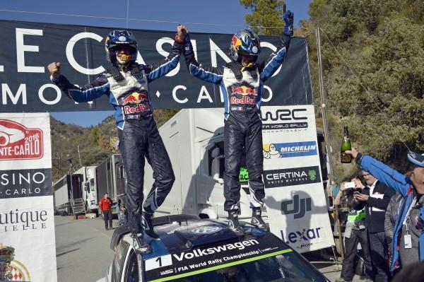 WRC 2016 MONTE CARLO Seb OGIER et Julien INGRASSIA viennent de gagner pour la 4éme fois le MONTE CARLO en temportant l'ES16 la Power stage