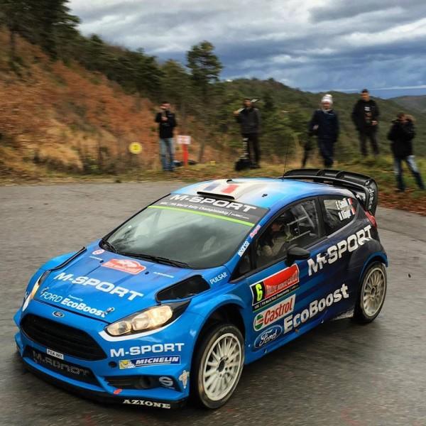 WRC 2016 MONTE CARLO essai Equipe FORD debut janvier pour Eric CAMILLI et Nico KLINGER