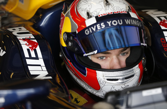 2015 GP2 Test Yas Marina Circuit, Abu Dhabi, United Arab Emirates Tuesday 09 March 2015 Pierre Gasly (FRA, DAMS) Photo: Jed Leicester/GP2 Series Media Service ref: Digital Image _JL13976
