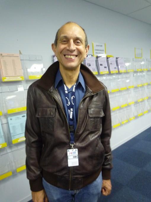 Yves COURAGE toujours préésent chaque année dans la salle de presse des 24 Heures du MANS