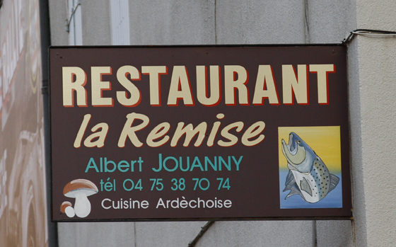 Le célèbre restaurant de LA REMISE à ENTRAYGUES