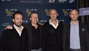 24-HEURES-DU-MANS-2016-Les-hommes-du-Team-PANIS-BARTHEZ-le-5-fevrier-u-Pavillon-Gabriel-pour-la-présentation-de-la-liste-des-invités-Photo-Max-MALKA