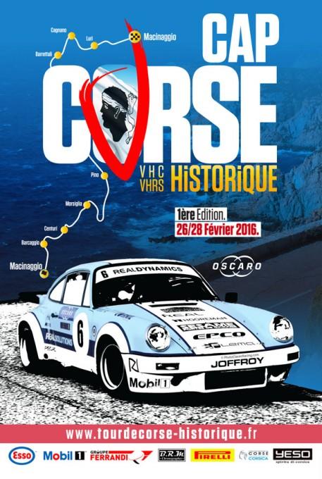 CAP CORSE HISTORIC RALLY 2016 - 27 et 28 FEBRIER - Affiche