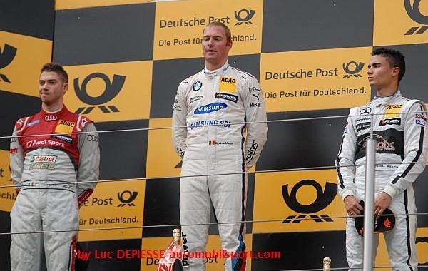 DTM 2015 NURBURGRING Le podium de la 1ére course avec le vainqueur MAXIME MARTIN devant MORTRARA et WEHRLEIN