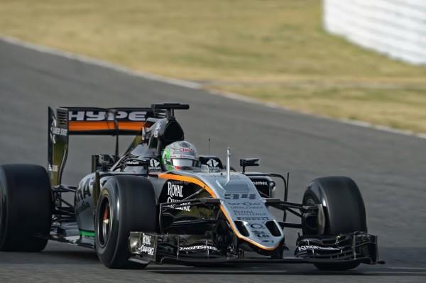 F1 2016 - MONTMELO - 22 fevrier - FORCE INDIA de Alfonso CELIS - Photo Antoine CAMBLOR