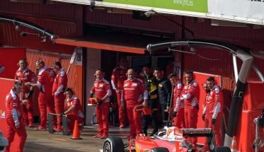 F1-2016-MONTMELO-Jeudi-25-Fevrier-MEILLEUR-TEMPS-pour-la-FERRARI-de-KIMI-RAIKKONEN-Photo-ANTOINE-CAMBLOR.