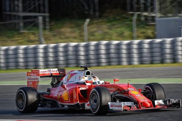 F1 2016 - MONTMELO- Mardi 23 février - La FERRARI de Seb VETTEL- Photo Antoine CAMBLOR