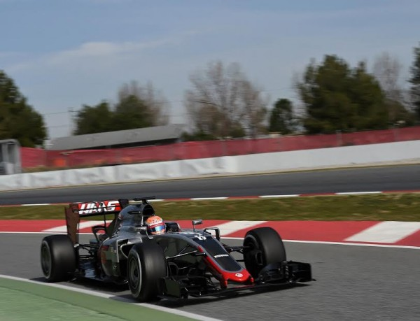 F1 2016 - MONTMELO - Mercredi 24 Février- La HAAS de Romain GROSJEAN - Photo Antoine CAMBLOR