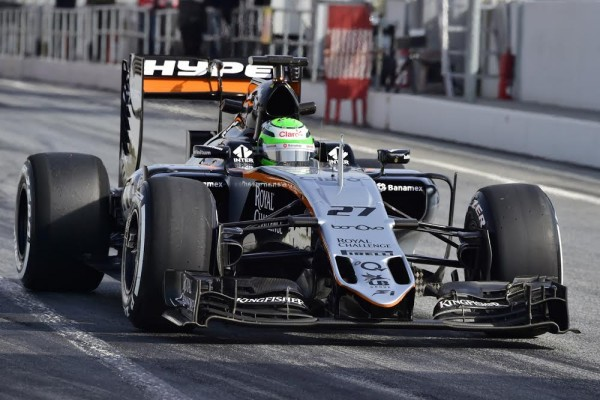 F1 2016 - MONTMELO - Mercredi 24 fevrier -NICO HÜLKENBERG FORCE INDIA-MERCEDES -Photo Max MALKA
