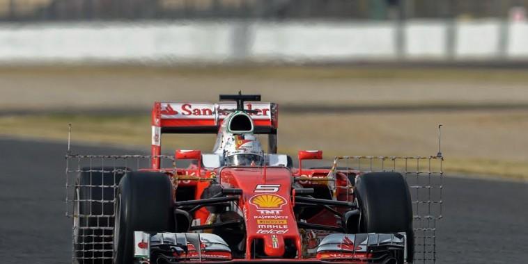 F1 2016 Test MONTMELO 22 fevrier  - FERRARI  Sebastien VETTEL -Photo Antoine CAMBLOR