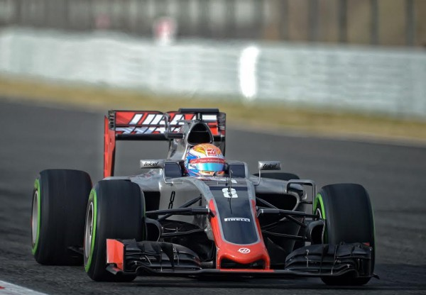 F1 2016 Test MONTMELO 22 fevrier HAAS avec Romain GROSJEAN - Photo Antoine CAMBLOR