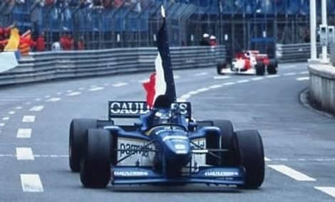 F1-MONACO-1996-1er-OLIVIER-PANIS-et-LIGIER.