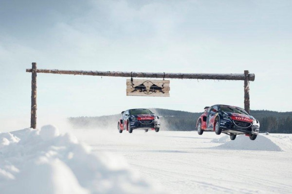 RALLYCROSS-20216-SEB-LOEB-a-mentrainement-sur-un-lac-gelé-en-Suéde-avec-le-TeamPEUGEOT-HANSEN-PHOTO-RED-BULL