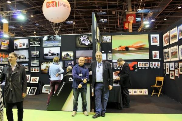 RETROMOBILE-2016-Deux-grands-photographes-les-deux-BERNARD-ASSET-et-BAKALIAN-Photo-emmanuel-LEROUX