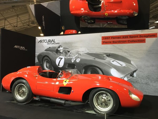 RETROMOBILE-2016-La FERARI 335 Sport SCAGLIETTI de 1957 de la Collection BARDINON-Photo Emmanuel-LEROUX
