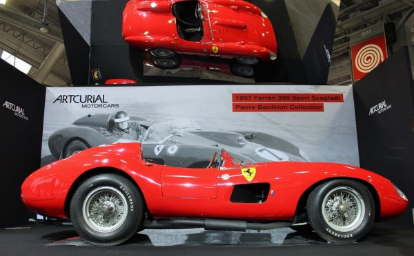 RETROMOBILE-2016-La-FERRARI-335Sport-SCAGLIZETTI-de-1957-de-la-Collection-BARDINON-Photo-emmanuel-LEROUX