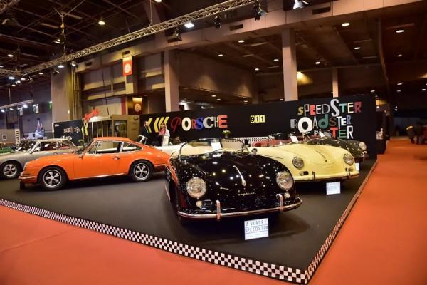 RETROMOBILE 2016 - L'un des stands avec les 356 cabriolet et une 912