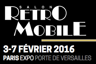SALON RETROMOBILE 2016 Affiche -