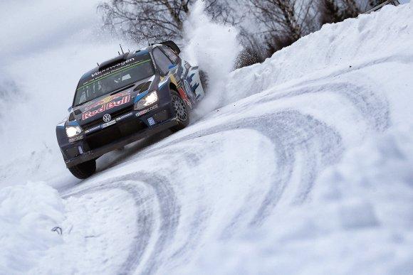 WRC 2015 SUEDE La POLO WRC des vainqueurs OGIER et INGRASSIA.