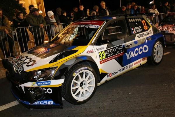 WRC-2016-Monte-Carlo-la-SKODA-Fabia-R5-de-Julien-MAURIN-juste-avant-le-départ-photo-Jean-François-THIRY.