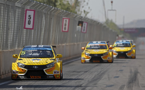 15 THOMPSON James (gbr) Lada Vesta team Lada Sport Rosneft action during the 2015 FIA WTCC World Touring Car Race of Morocco at Marrakech, from April 17 to 19th 2015. Photo Francois Flamand / DPPI.